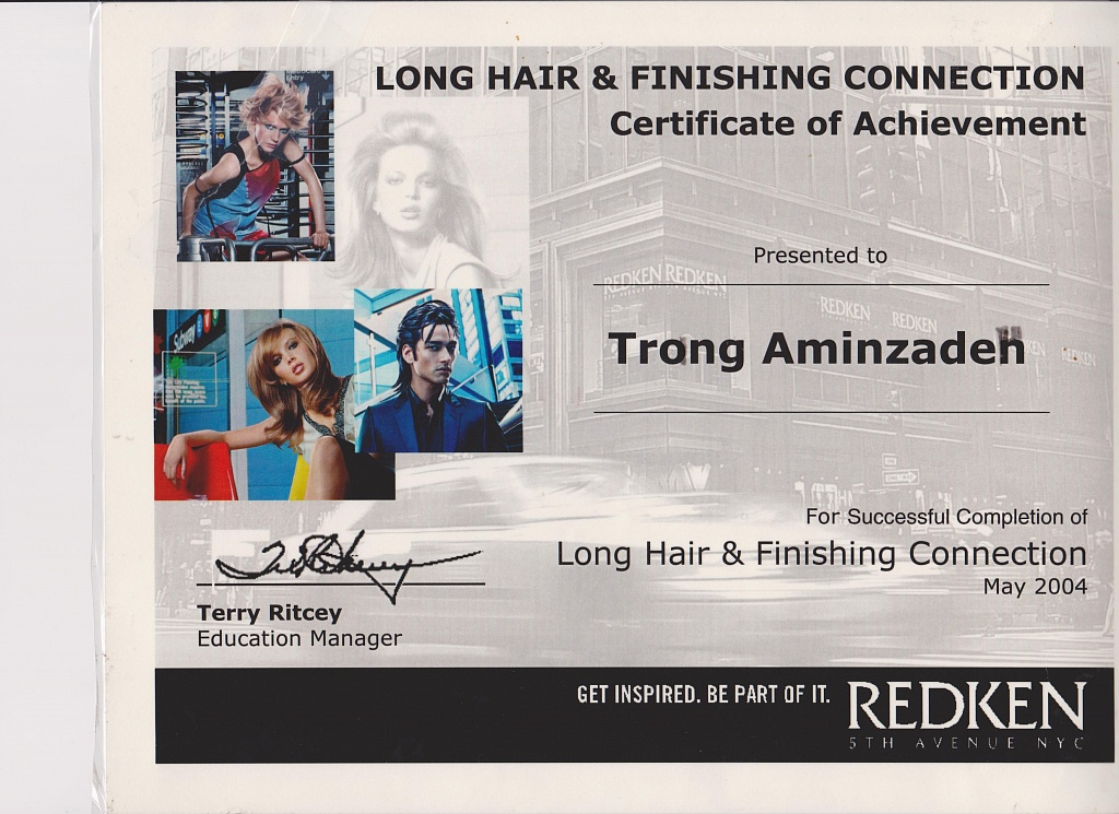 Certification: Long Hair and Finishing